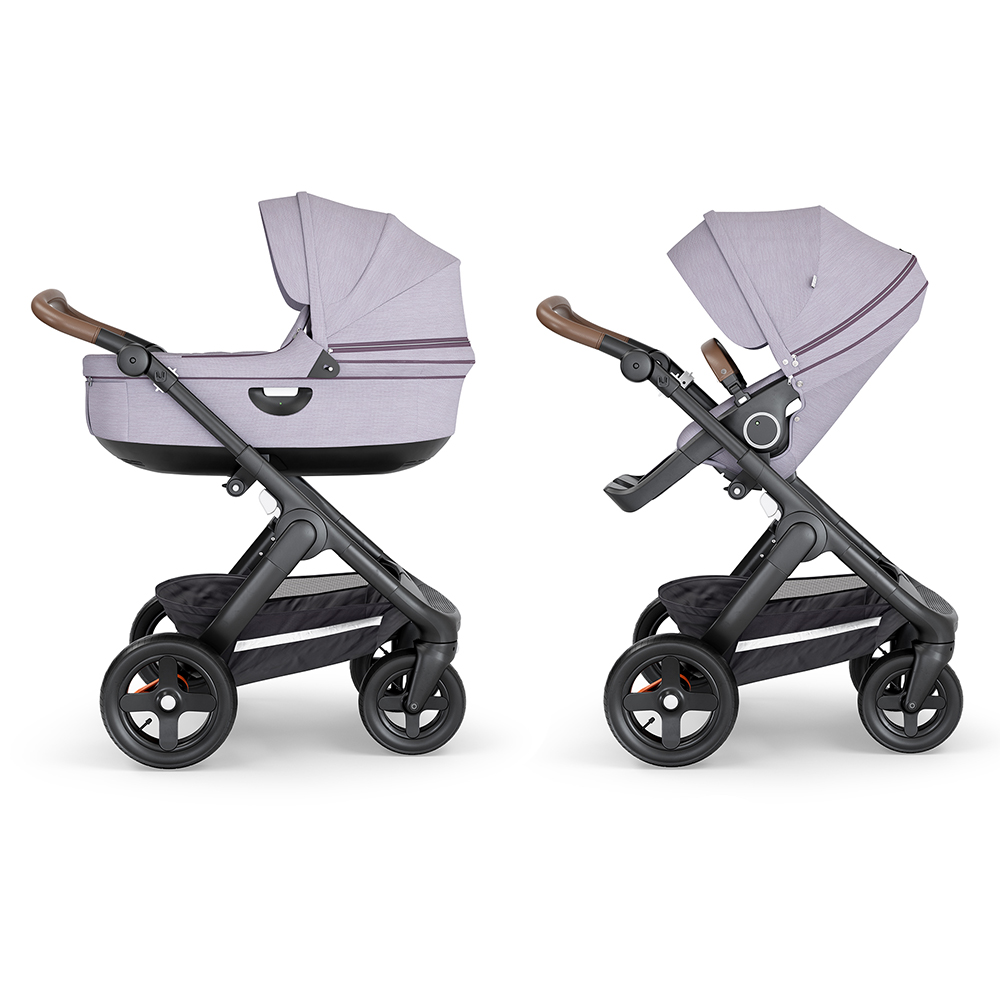 Коляска 2 в 1 Stokke Trailz Black/Brown